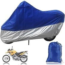 Funda Protector de Polyester Talla XXXL (265cm) Cubierta para Moto Gris y Azul