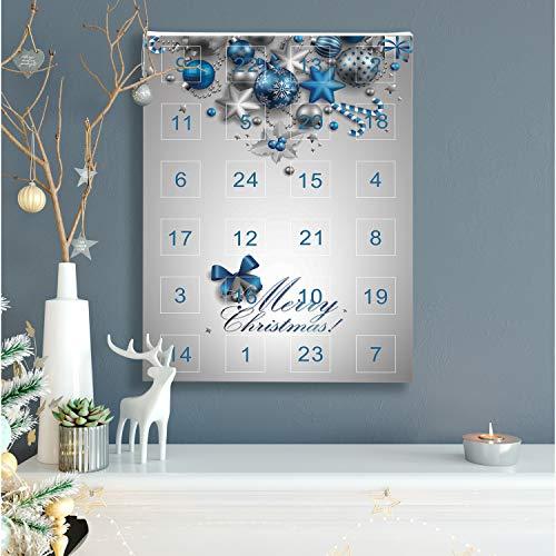 VALIOSA Mode-Schmuck Adventskalender,Merry Christmas' mit Halskette, Armband + 22 individuelle Perlen-Anhänger aus Glas und Metall, das besondere Geschenk für Mädchen und Frauen