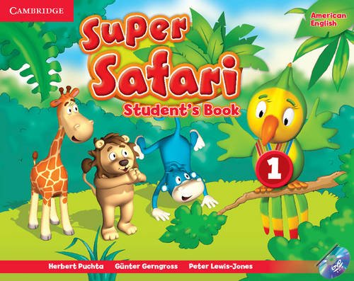 Super Safari American English Level 1 Student's Book with DVD-ROM (Super Minds)