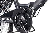 Telefunken E-Bike Klapprad Elektrofahrrad Alu, grau, 7 Gang Shimano Kettenschaltung - Pedelec Faltrad leicht, 250W und 9 Ah/36V Lithium-Ionen-Akku, Reifengröße: 20 Zoll, Kompakt F800 Test