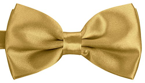 BomGuard Fliege für Herren gold I Männer Fliege für Hochzeit, Party oder edele Anlässe I Trendy Bow Tie I Gold Bow Tie