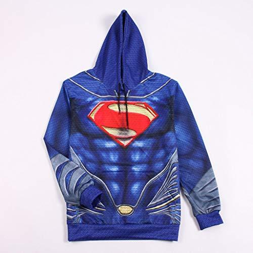 Kleidung Hoodie Kostüm Cosplay Kleidung Weihnachten Halloween Kostüm Für Erwachsene Tragen Superman-S (Superman Kostüm Ändern)