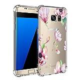 Teryei Samsung Galaxy S7/s7 Edge TPU Silikon Stoßfänger Hülle Tasche Handyhülle Clear Ultra dünn Silikonhülle Durchsichtig Handy Galaxy Samsung Galaxy S7 Edge (Samsung Galaxy S7, 1)
