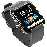 HAMSWAN Smartwatch Andriod Con Cámara Bluetooth 4.0 Multi-idiomas Reloj Inteligente Regalo con Pantalla Táctil Cronómetro Pódometro Alarma de Antirobo/Dormir Compatible con Todos Tipos Smartphones de Android