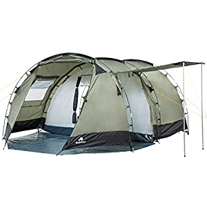 campfeuer - tunnel tent family tent 3000 mm water column - olive-green/black