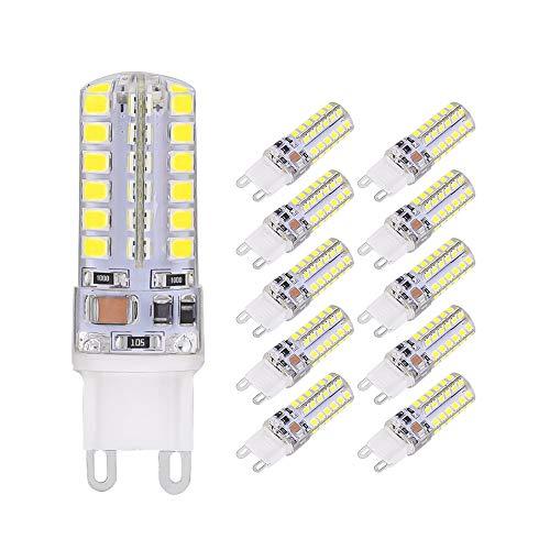 ELINKUME G9 LED Lampen, 3W 250 Lumen LED Leuchtmittel, 6000 Kelvin kaltweiß ersetzt 30W Halogenlampen, 10er Pack