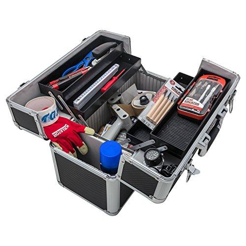 Werkzeugkoffer Angelkoffer Präsentationskoffer + Tragegurt Schlüssel Farbwahl - 4