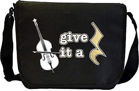 Double Bass Give It A Rest - Sheet Music Document Bag Sacoche de Musique MusicaliTee