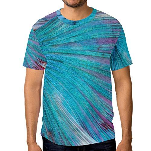 T-Shirt für Männer Jungen Fantasy Mermaid Tail Custom Short Sleeve -