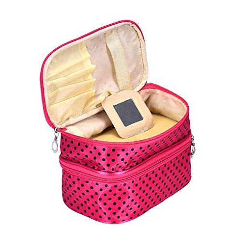 Fami Donne portatile cosmetico caso di trucco del sacchetto di Zip Bag (HOT)