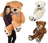 Iso Trade XXL Teddybär 160 cm Plüschtier Plüschbär Kuscheltier Stofftier Riesen Groß #4657, Farbe:Hellbraun