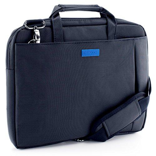 """deleyCON Notebook-Tasche bis 15,6"""" Zoll (39,6cm) Laptop Notebook Netbook Macbook Tragetasche Schultertasche Schutztasche Polyester Blau"""