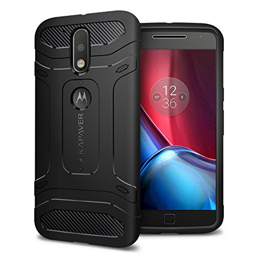 Kapaver-Rugged-Solid-Black-Shock-Proof-Slim-Armor-Case-for-Moto-G4-G4-Plus
