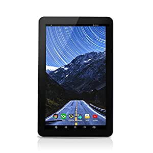 "iRULU eXpro 1Plus Tablet (X1Plus) 10.1"" Google Android 5.1.1 Lollipop Quad Core 1G 16GB- fronte nera e dietro bianco"