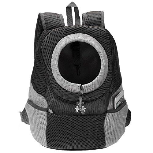 Septven Hohe Qualität Atmungsaktiv Haustier Hund Katze Tasche Rucksack für Hunde Hunderucksack (L, Schwarz)