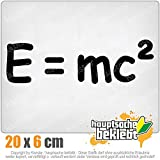 KIWISTAR E=mc2 - e = mc2 Einstein 20 x 6 cm IN 15 FARBEN - Neon + Chrom! Sticker Aufkleber