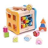 Boby's Wonderland Steckwürfel Holz Sortierwurfel Form Sortierer für Baby