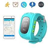 Hangang GPS Tracker for Children, Waterproof Smartwatch Anti-Roaming SOS Calling Child Finder Real
