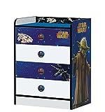 Stor - Commode avec tiroirs d'enfant | Star Wars | Disney - Dimensions: 80,5 x 60 x 40 cm. -Plusieurs Personnages
