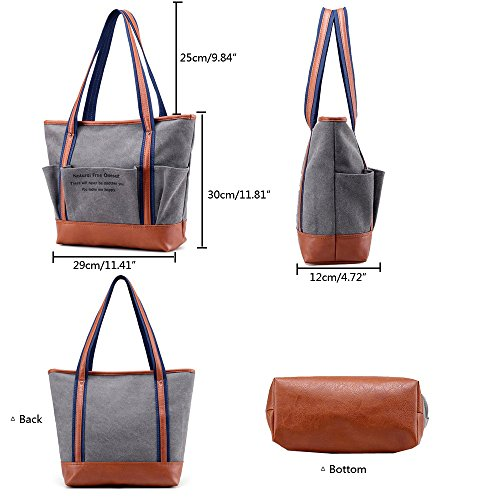 Anne, Borsa tote donna blu Blue Brown