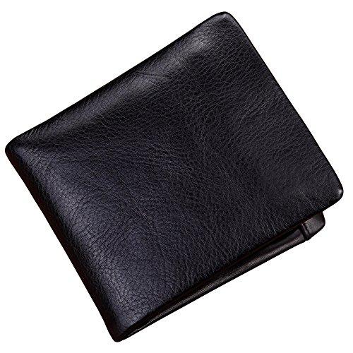 Portafoglio uomo in pelle Leather Man Purse Business Businessed Twenty Percent Atmosferico Capace di sopportare o resistere Look And Practical Shopping Un regalo Daily Use Wallet ( Colore : Nero )