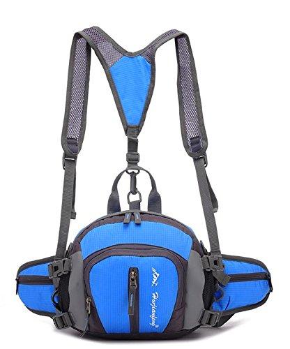Zll/Sport all' aria aperta arrampicata borsa a tracolla uomini e donne equitazione zaino da viaggio bottiglia d' acqua Borsa, grigio blu