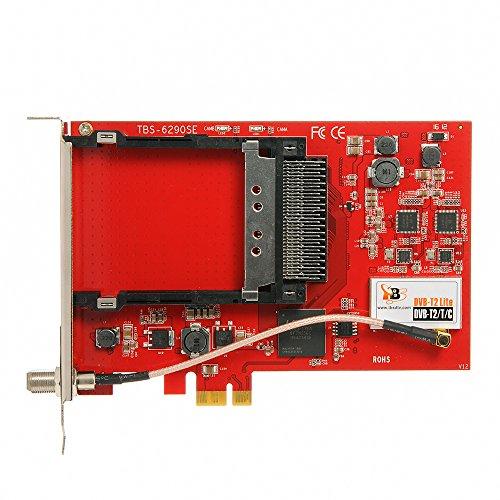 TBS 6290 SE DVB-T2/C Doppel-Tuner PCIe Terrestrische oder Kabel-TV-Karte mit CI