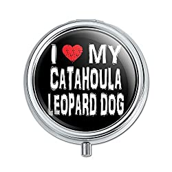 Graphics and More I Love My Catahoula Leopard Dog Stylish Pill Case Trinket Gift Box