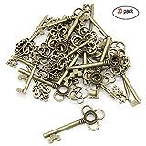 Schlüsselanhänger, Skelett-Bronze, 30 Stück, antikes Bronze, verschiedene Schlüsselanhänger, Vintage-Anhänger für Schmuck, DIY