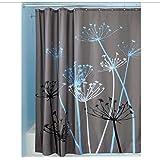 Poliéster impermeable y moho baño cortina de ducha gris
