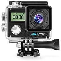 Panlelo V2 Sports cam Action Camera Underwater camera Sport DV Helmet Camera Waterproof DV Camcorder Sports Video Cam WIFI 4K 16MP 30fps Lens 2 170° with Sony Sensor 6 Layer Glass Waterproof Case …