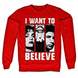 The X Files Offizielles Lizenzprodukt Mulder & Scully Sweatshirt (Rot) Large