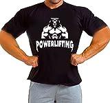 Arubas-uk Levantamiento de Potencia Bestia Gimnasio motivación Bodybuilding Entrenamiento Camiseta de Wourkout Camiseta Negro Negro Medium