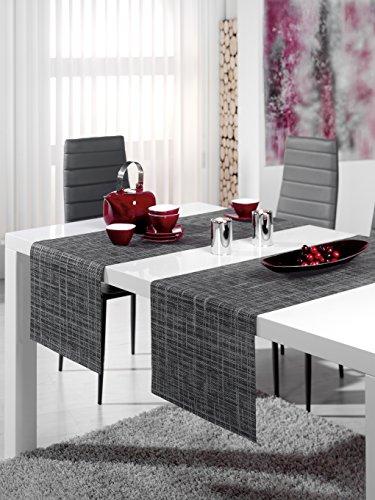 """Stilvolle OUTDOOR - SERIE """" MAURICE """" - der perfekte Blickfang für drinnen und draußen - geeignet für Haus, Terrasse, Balkon und Garten - ABWASCHBAR - WIND- und WETTERFEST - UV-BESTÄNDIG - RUTSCHFEST - geprüfte Qualität nach Öko - Tex Standard 100 - aus dem KAMACA-SHOP - hier in der Ausführung : : (Tischläufer 40 x 150 cm)"""