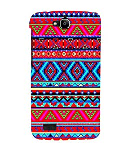 Zig Zag Pattern 3D Hard Polycarbonate Designer Back Case Cover for Huawei Honor Holly :: Honor Holly