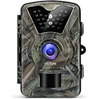 """Victure Wildkamera Fotofalle 1080P Full HD 12MP Jagdkamera Weitwinkel Vision Infrarote 20m Nachtsicht Wasserdichte IP66 Überwachungskamera mit 2.4"""" LCD Display"""