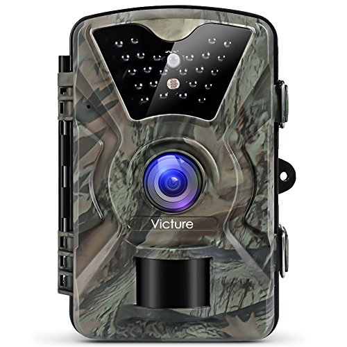 Victure Wildlife Camera 12MP 1080P Trail Game Camera Motion Activated  Infrared Night Vision with 2 4