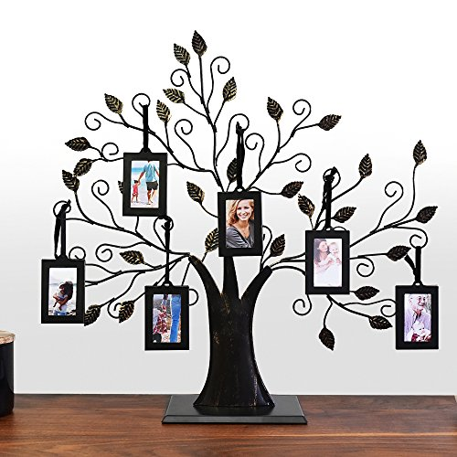 Familienbaum mit 6Bilderrahmen zum Aufhängen von Thetford Design