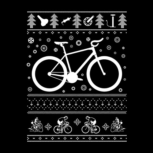 Bicycle Cycling Christmas Knit Women's Vest Black