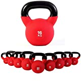 POWRX Kettlebell 4-30 kg | Kugelhantel Neopren (16 kg)