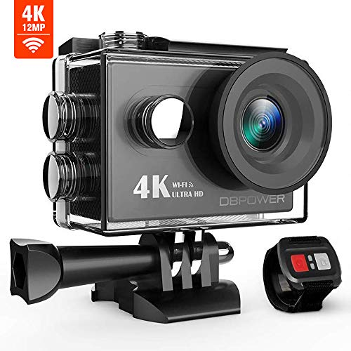 DBPOWER Action Cam Wi-Fi, Videocamera 4K Ultra-HD, Telecamera...
