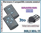 Hormann HSM2 868 / Hormann HSM4 868 compatible mando a destancia, 868,3Mhz fixed code CLON, 4-canales reemplazo transmisor Al mejor precio!!! (NO COMP