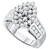 Damen Ring / Verlobungsring 1.00 Karat 10 Karat Weißgold Ring 1 Karat