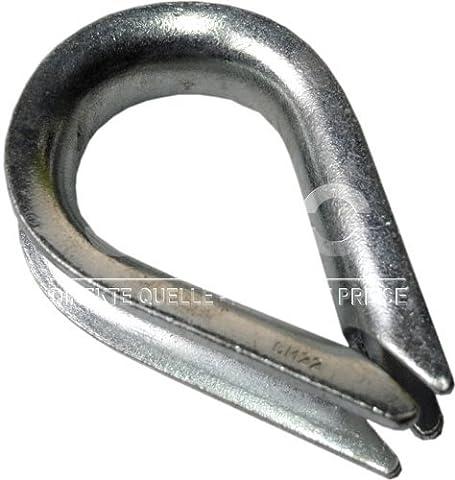 25 pc/s câble acier cosse coeur pour cable 12mm galvanisé DIN 6899B