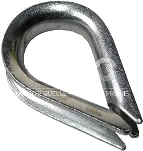 50 pcs acier galvanisélire serre-câbles étrier DIN 741 5mm zingue