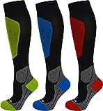 Coolmax Sport Kompressionsstrümpfe mit Frotteesohle und anatomisch angeordneten Polsterzonen