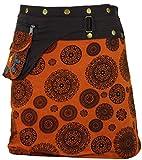 Guru-Shop Wickelrock, Kurzer Goa Rock, Cacheur, Damen, Orange, Baumwolle, Size:One Size, Cacheure, Hüftschmeichler Alternative Bekleidung