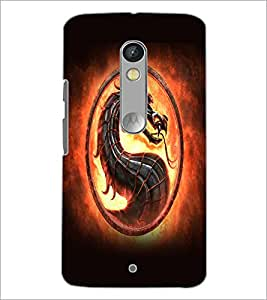 Printdhaba Dragon D-5523 Back Case Cover For Motorola Moto X Play