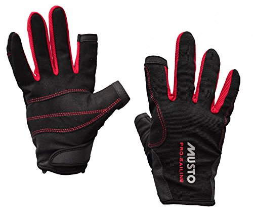 Musto Essential Sailing Long Finger Gloves BLACK AS0803 Sizes- - Large