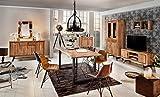 Baumkanten-Tisch Salito 180x90 cm | Esszimmertisch aus massiver Akazie | Baum-Tisch Natur | Metall U-Gestell in Schwarz